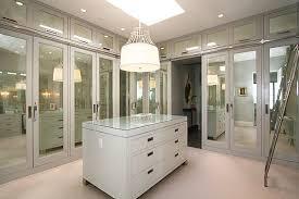 Image mirrored closet door Frameless View In Gallery Mirrored Doors In Contemporary Closet Decoist Modern Spaces With Mirrored Closet Doors