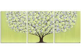 nursery wall art of green and purple tree