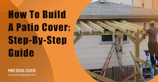 build a patio cover step by step guide