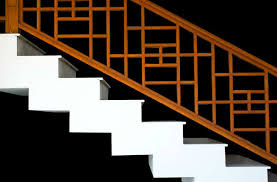 asian theme railing for staircase