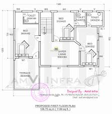 floor plan and elevation 2277 sq ft house kerala home