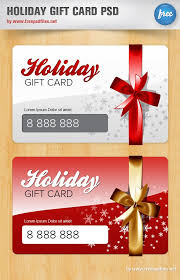Holiday Gift Card Template Holiday Gift Card Psd Template Free Psd Files