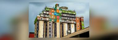 cheap shipping containers. Modren Cheap Silos Topped With Stacks Of Shipping Containers Provide Cheap Student  Housing In South Africa H