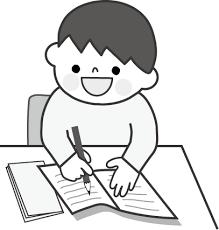 勉強のイラスト男の子無料イラストフリー素材