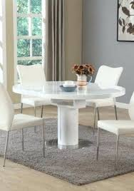 round table roseville contemporary white round extendable dining table in home garden furniture tables opentable roseville