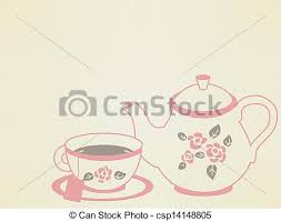 vintage tea cups vector. Simple Tea Vintage Tea Pot Set  Csp14148805 And Cups Vector V