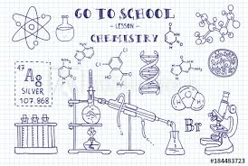 Chemistry Cover Page Designs Chemistry Hand Sketches On The Theme Of Chemistry Note