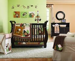 Monkey Bedroom Decorations Monkey Nursery Decorating Ideas With Carpet And Drawers Under Wall