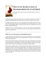 Recommendation Letter For Grad School How To Get The Best Letters Of Recommendation For Grad School