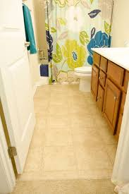 Vinyl Bathroom Floors Bathroom Transformation With Vinyl Tile The Home Depot