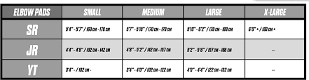 Ccm Goalie Pad Sizing Chart Ccm Ccm S18 Jetspeed Ft1 Elbow Pads Youth