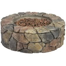 best choice s home outdoor patio natural stone gas fire pit for backyard garden multicolor com
