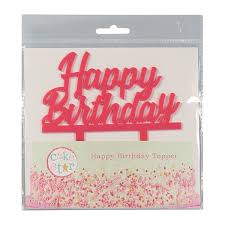 Cake Star Cake Topper Happy Birthday Pink