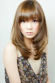 Asian Hair Style Women shoulder length layered hairstyles with bangs for thin fine brown 6152 by stevesalt.us