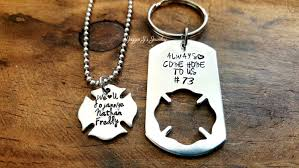 always e home to me keychain personalized firefighter wife necklace fireman wife jewelry firefighter friend necklace