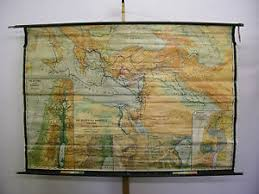 Details About Schulwandkarte Wall Map School Map Map Bible Christ 216x150 1951 Map Vintage