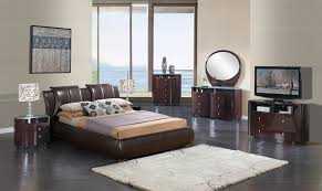 Extravagant Leather Modern Contemporary Bedroom Sets Milwaukee
