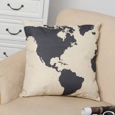 outdoor pillow slipcovers world map cushion pillow cover vintage home decor linen throw pillow of outdoor
