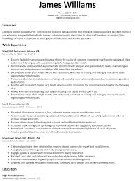 Server Resume Summary Server Resume Sample ResumeLift 16