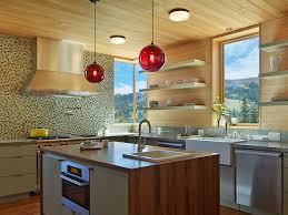 kitchen island pendant lighting red
