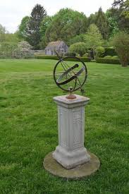 french bronze armillary sphere on art nouveau base for