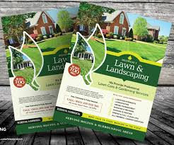 Free Lawn Mowing Flyer Template Lawn Care Flyer Templates Chakrii