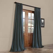 lochleven solid faux silk taffeta rod pocket single curtain panel
