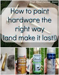 best spray paint for furnitureBest 25 Painting hardware ideas on Pinterest  Painted door knobs