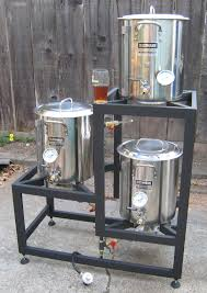 tier brew stand with 10 banjo burners morebeer brewsculptures they offer gravity tippy and flat brew