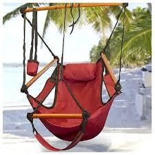 deluxe outdoor patio zero gravity air hammock sky swing rope chair