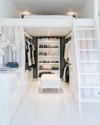 gorgeous space saving walk in closet idea