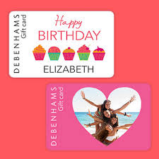 personalise gift card
