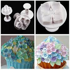 <b>3Pc</b> Hydrangea <b>Fondant Cake</b> Decorating <b>Sugar</b> Craft Plunger ...