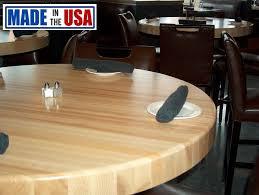 round butcher block restaurant table top
