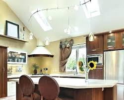 vaulted kitchen ceiling lighting. Cathedral Ceiling Kitchen Vaulted Lighting Track Sloped Ideas . U