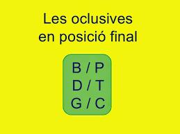 Resultado de imagen de consonants a final de mot
