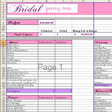 Wedding Planning Budget Calculator Free Wedding Budget Calculator Bridal Party Tees