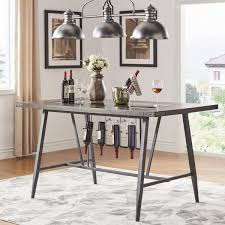wine rack dining table. Perfect Dining Harley Counter Height Dining Table With Wine Rack By INSPIRE Q Modern On A
