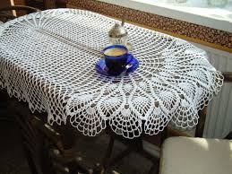 round table runner beautiful oval table topper white crocheted tablecloth handmade big lace table