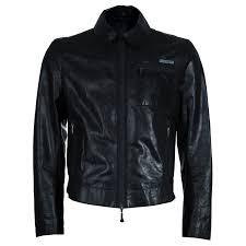 emporio armani men s crinkle leather jacket l nextprev prevnext