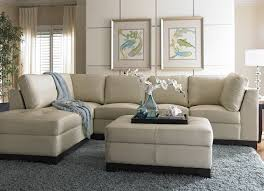 havertys sectional sofa this cream leather looks light and intended for ideas 18