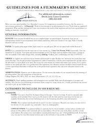 Resume Guide Film Resume Guide University Career Services BYU 10