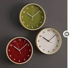 office clocks. Pottery Barn, $168.63. Decor-office-accessories-clocks.gif Office Clocks O