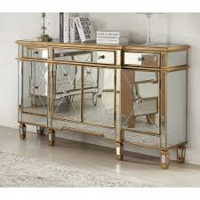 Mirrored Furniture Living Room Mirrored Furniture Gold 4 Door 3 Drawer Sideboard Hall Living