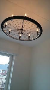 Industriele Lamp Van Een Fietswiel Hand Made Lampen In 2019