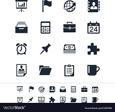 Business And Office Icons Royalty Free Vector Image