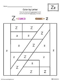Uppercase Letter Z Color by Letter Worksheet