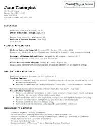 Physical Therapy Aide Resume Sample Newskey Info
