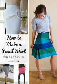 Free Skirt Patterns New How To Make A Pencil Skirt 48 Free Skirt Patterns AllFreeSewing