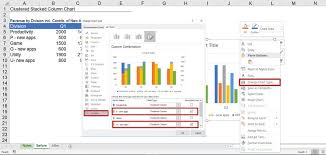 Insert 3d Clustered Column Chart Excel Create A Clustered And Stacked Column Chart In Excel Easy